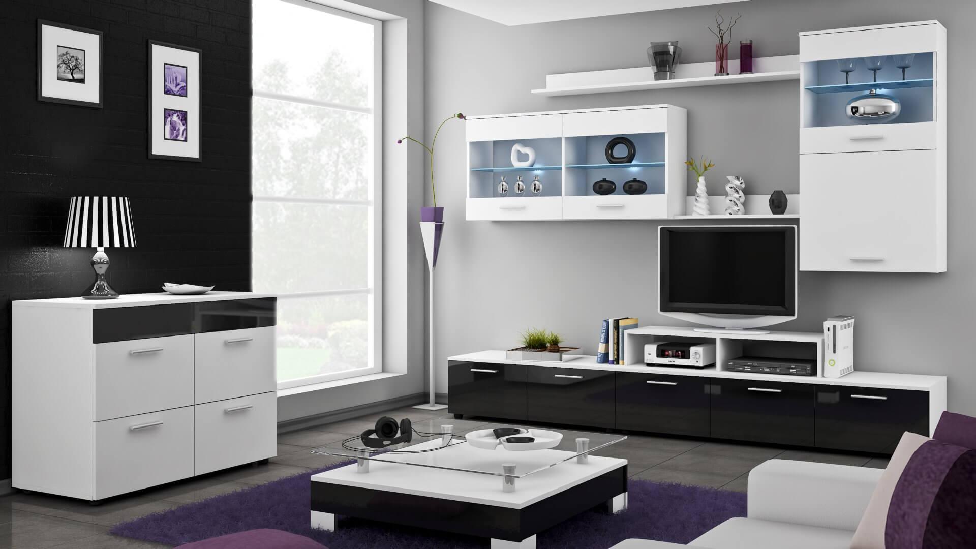 nowoczesne meble do salonu nowoczesny salon 3d
