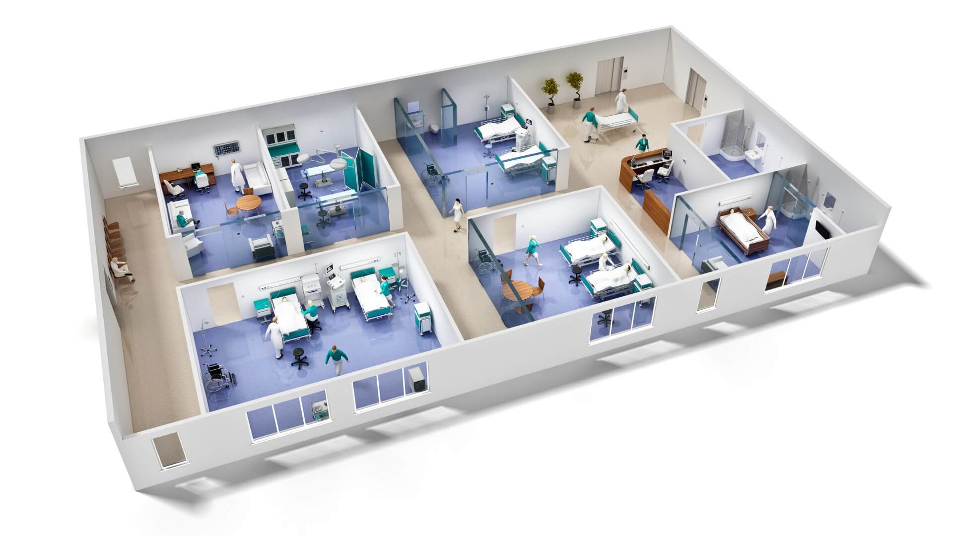 3D Emergency Service Building Visualization